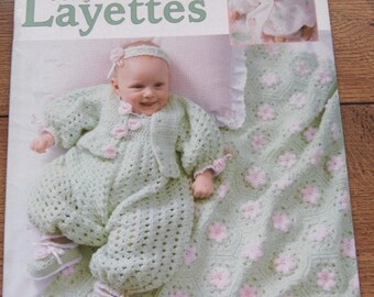2002 crochet  patterns Baby LAYETTES  tender touch