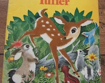 Vintage 50s children's book TUFFER baby deer fawn a fuzzy wuzzy book sc children boy girl