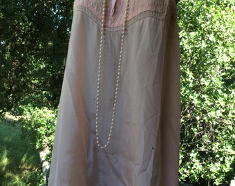 Vintage 1920-30 silk lingerie one-piece play suit lounge wear collectible s 32-34