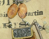 Antique Victorian Leather Coin Purse Necklace from Bloomsburg PA