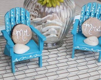 Personalized Beach Chairs coastal wedding | etsy