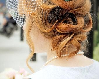 Verdigris Sparrow Hair Comb - Large Sparrow - Swallow Bird - Wedding Hair - Bridal Hair Accessory - Whimsical - Woodland - Green Patina