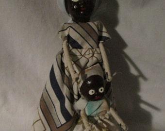 KATY  Puerto Plata Wooden Dolls  Mother & Baby Girl  Handmade  Creaciones