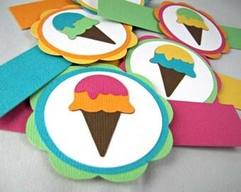 Ice Cream Cone Party Napkin Rings, Ice Cream Napkin Rings, Ice Cream Cone Party, Ice Cream Cone Shower, Ice Cream Birthday Party, Set of 12