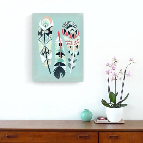 Home Wall Decor Nursery Art Native American Art Print Three