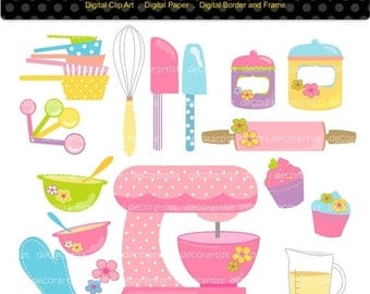 cooking clip art etsy. Black Bedroom Furniture Sets. Home Design Ideas