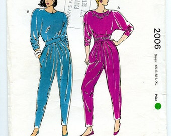 Vintage 90s Kwik Sew Pattern 2006 Women's Top and Pants for Stretch Knits - UNCUT Multi Size XS S M L XL