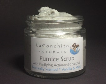 Luxurious Exfoliating Pumice Scrub for Dry Rough Skin - No Parabens, No Oily Residue, Ideal Skin Softening Foot Scrub for a DIY Home Spa Day