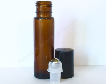 1 Essential Oil Roll On Glass Bottle 10ml (1/3oz) - One Piece Brand New - Read Full Description for Details