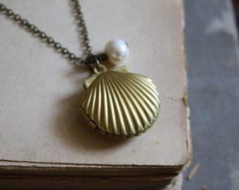 Mermaid Locket Necklace