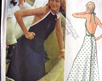 UNCUT * Vogue Paris Original Pattern 2716 * FABULOUS Designer LANVIN: Misses' Evening Dress. Back-buttoned halter dress * Size 10