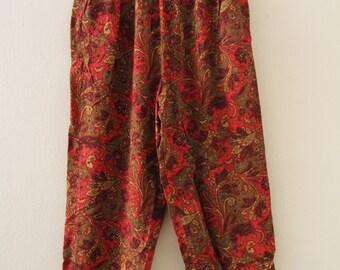 80's Boho Paisley Pants
