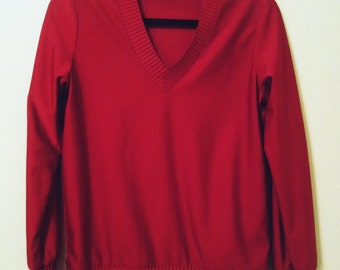 SALE 70's Burgundy Nylon Top