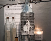 Reserved Order for Demonica, Sand Ceremony Bottle, Personalized Hand Painted Sand Ceremony Bottle With Your Photo, Unique Decor, Centerpiece