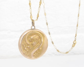 Antique Locket Gold Filled Victorian Locket Art Nouveau Locket Antique Art Nouveau Jewelry