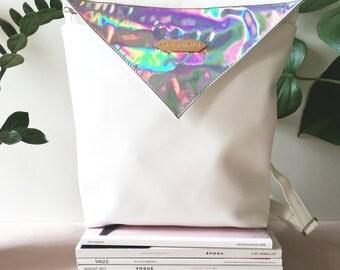 White Hologram Backpack