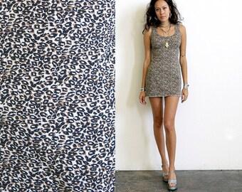 Body Con Dress / Leopard Dress / Animal Print Mini Dress Sz S