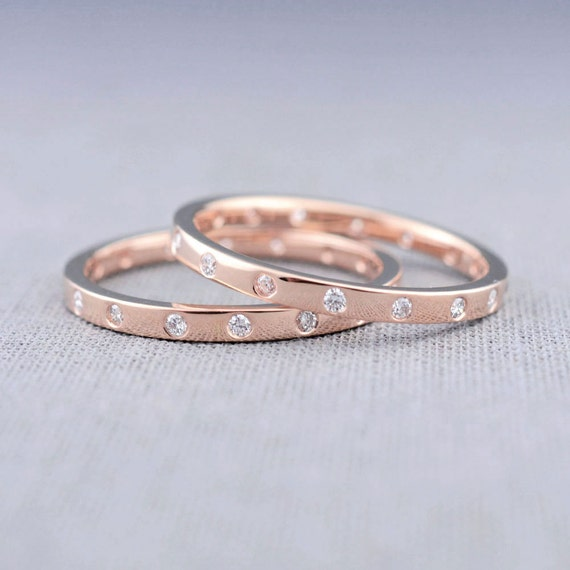 Hers And Hers Wedding Ring Set Canadian By LilyEmmeJewelry