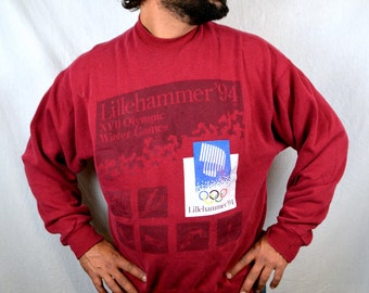 Vintage 1994 Lillehammer Olympic Games Sweatshirt Winter Olympics
