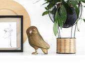Mid Century Brass Owl Figurine