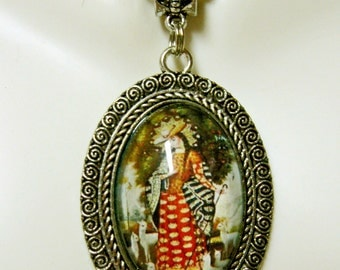 Mary, the shepherdess pendant and chain - AP04-363
