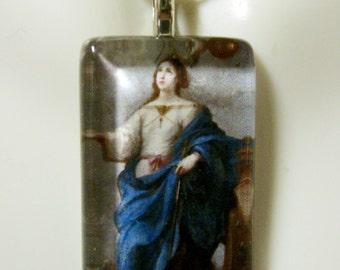 Saint Catherine pendant with chain - GP09-211