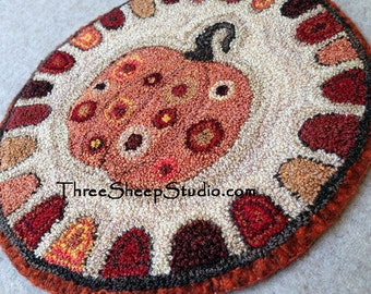 Punch Needle Pattern - Pumpkin Spice - #PN521 - Needlepunch Embroidery