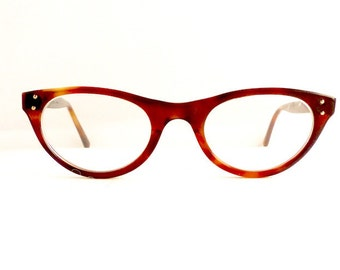 50s American Optical Cats Cateye Eyeglasses Frames Women's Vintage 1950's Brown Made in USA #M322 DIVINE