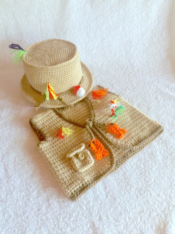 Baby fishing outfit fishing outfit crochet fishing hat for Baby fishing outfit