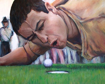 Happy Gilmore - Are You Too Good for your Home!? Adam Sandler Original Painting - 1990s Throwback Movie Painting - Pop-Culture
