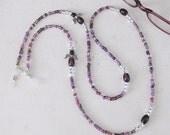 Purple Beaded Eyeglass Chain with Angel, Eyeglass Chain, Purple Eyeglass Chain, Eyeglass Chain, Beaded Eyeglass Chain, Glasses Chain EH-016