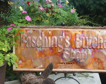 Shop Sign, Wedding Sign, Copper Sign,  wood sign, Custom Sign, Anniversary sign, Phrase Sign, Wedding Sign, Torch fired patina, Office sign
