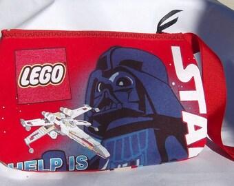 Star Wars...Lego  Wristlet / Pouch -- Handmade  OOAK   Darth Vader  Storm Troopers  OOAK