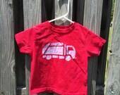 Garbage Truck Shirt (4T), Kids Truck Shirt, Boys Garbage Truck Shirt, Red Truck Shirt, Girls Truck Shirt, Boys Truck Shirt
