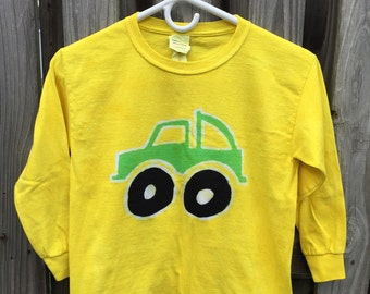 Kids Truck Shirt, Kids Monster Truck Shirt, Green Monster Truck Shirt, Boys Truck Shirt, Yellow Truck Shirt, Girls Truck Shirt (Youth S)