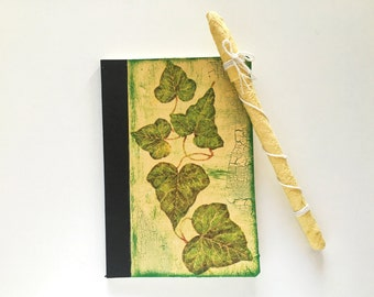 Country journal with decoupage of Ivy leaves