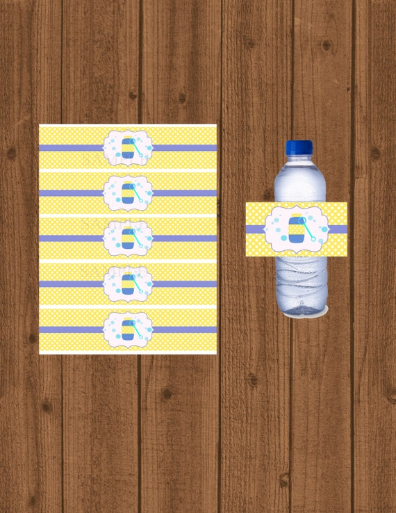 Bubble water bottle label wrapper boys bubble water bottle for Bubble bottle label template