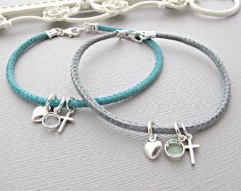 Dainty Sterling Silver Cross Bracelet, Tiny Cross Bracelet, Dainty Silver cross Bracelet, Cross Bracelet, Silver Bracelet, Silver Cross