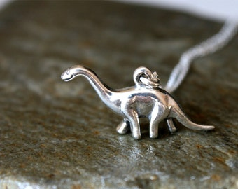 Dinosaur Necklace / Sterling Silver Dinosaur Necklace