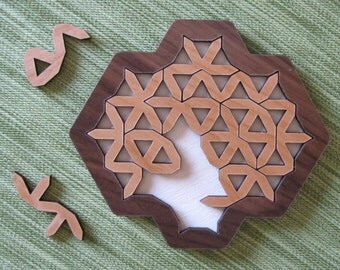 Triangle Edges wooden brain-teaser Puzzle Toy Game Gift