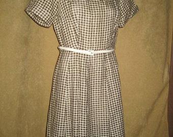 Ann Taylor Dress Vintage 50s - M