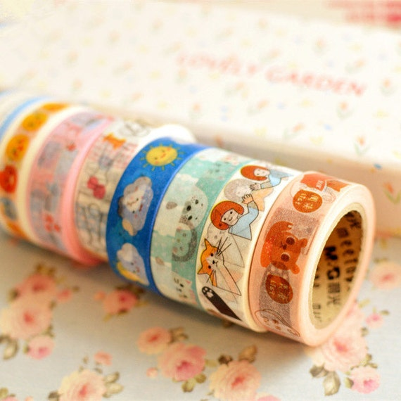 Meetape cartoon washi deco masking tape - Idee deco masking tape ...