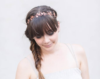 Wildflower Crown - A crown or headband of lovely little golden, rose gold, or silver wildflowers, Boho, Halo, Flower Crown, Wedding, Bridal