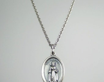 Saint Dymphna Medal Necklace
