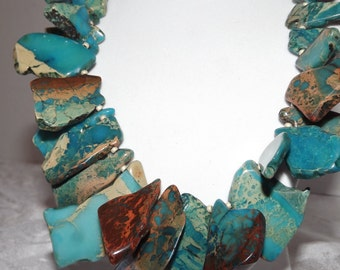 Blue Impression Jasper Necklace