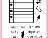 Planner Stamps - Get It Done by Annie's Paper Boutique - Use with Filofax, Erin Condren, Post It Sticky Notes - Clear - Checklist, Plans