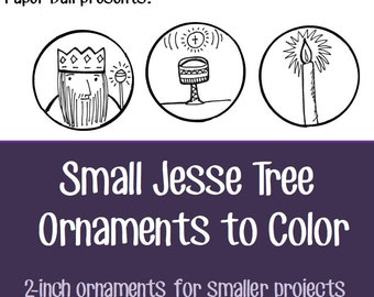 Small Jesse Tree Ornaments To Download And Color