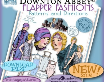 SALE 20's FLAPPER PATTERNS Downton Abbey Andover's Lady Rose Fabric Pdf Edition Authentic 1920's Pattern Booklet Download