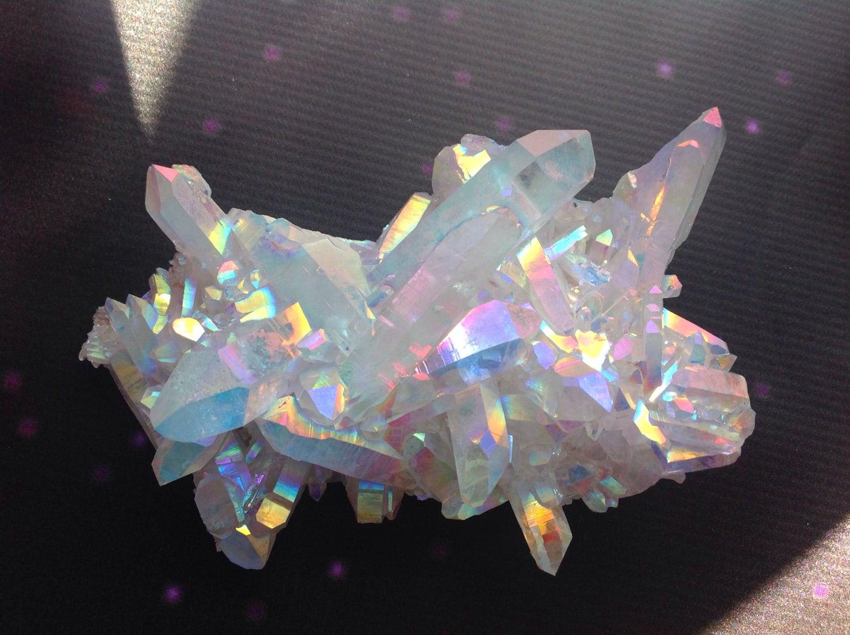Angel Aura Quartz Opal Aura Crystal Druzy Quartz Cluster 5 5