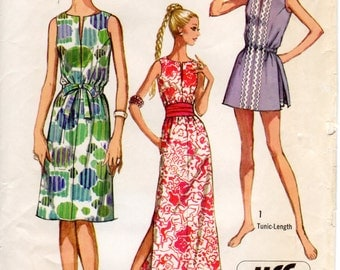 1970s Easy Dress Pattern - Vintage Simplicity 9359 - Bust 36 Jiffy Tunic and Shorts Minidress